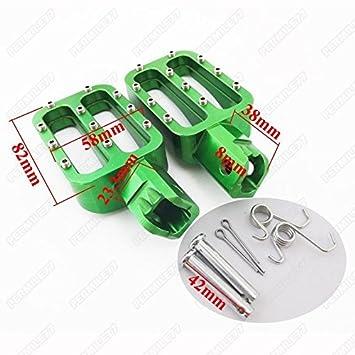 shanze CNC RACING FOOTPEGS FOOT PEGS PIT BIKE XR50 CRF50 SDG 107 SSR 125CC V FP10R Motorcycle 50cc-160cc red