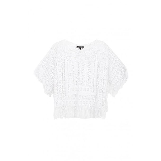 Blanco Womens Crochet Kimono Top