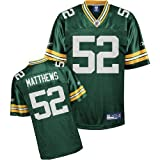Reebok Green Bay Packers Clay Matthews Replica Jersey Extra Large
