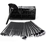 Makeup Brush Set, USpicy 32 Pieces Professional Makeup Brushes Essential Cosmetics With Case, Face Eye Shadow Eyeliner Foundation Blush Lip Powder Liquid Cream Blending Brush-Black