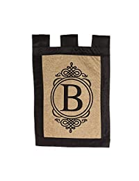 Evergreen Flag Garden Sub Burlap Monogram B
