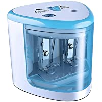 BSTOB Electric Pencil Sharpener,Automatic Pencil Sharpener with Heavy Duty Helical Blade to Fast Sharpen, Dual Holes…