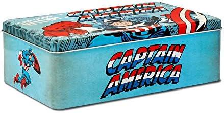 Logoshirt Caja Capitán América - Se vuelve Loco - Lata de Metal Marvel Comics - Captain America - Goes Wild - Coloreado - Diseño Original con Licencia: Amazon.es: Juguetes y juegos