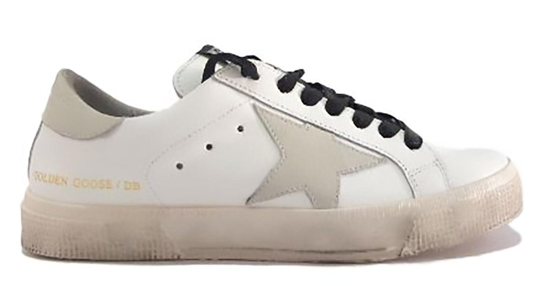 GOLDEN GOOSE Zapatillas de Piel Para Mujer Blanco Bianco 35 EU