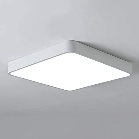 Ganeed Led Ceiling Lights Modern Flush Mount Light Square 6500k Cool White Ceiling Lamps For Kitchen Bathroom Hallway With 240pcs Led Chips White 12 Inch 24w 100w Equivalent Amazon Ca Home Kitchen