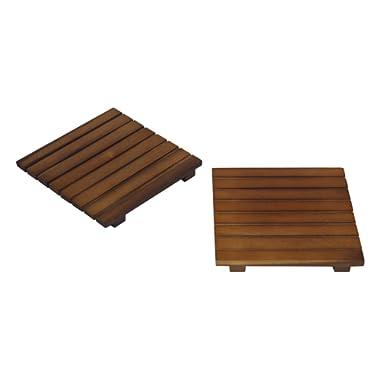 Mountain Woods Square Acacia Hardwood Trivet/Cooling Rack, 2 Piece