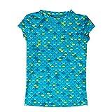 Mahina Mermaid Kids MerWear Swim Shirt, Large, Aqua