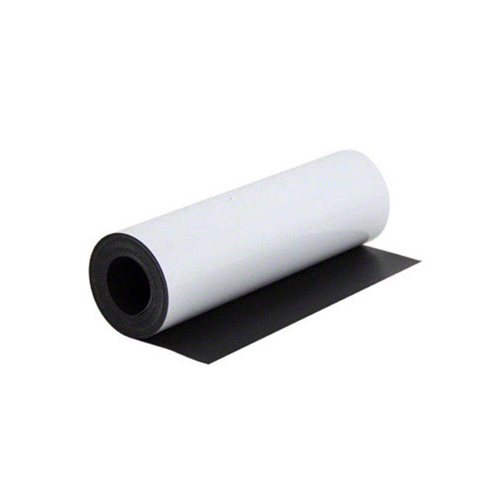 Feuille magn/étique Caoutchouc aimant/é BLANC MAT repositionnable sur toutes surfaces m/étaliques vendu au m/ètre Aimant flexible blanche imprimable avec impression num/érique 0,5mm x 0,62m x 1m