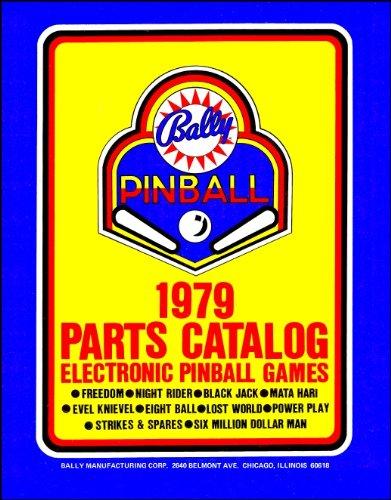 (1979 Bally Pinball Machine Coin-Op Game Parts Manual Catalog)
