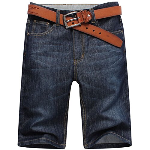 034902ce95 Men summer casual black jean shorts big plus size denim Capri short pants  short low-