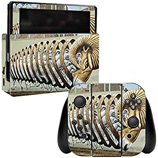 MightySkins Skin Compatible with Nintendo Switch - Ram Spiral | Protective, Durable, and Unique Vinyl Decal wrap Cover | Easy to Apply, Remove, and Change Styles | Made in The USA
