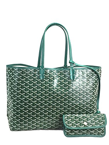 Tolera Women PU Shopping Tote Bag with Coin Pouch(Green), Large ()