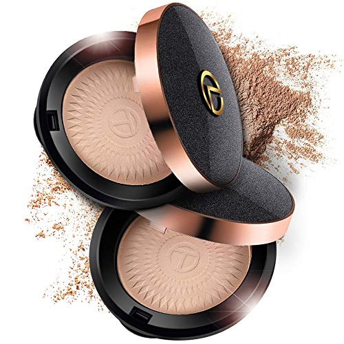 Translucent Mineral Face Powder with Infallible Finishing Formula. Setting Foundation and Face Makeup Matte. Fit for All Skin Types! Pressed Compact with Puff Included. Not Loose. Make Easy Touch Ups!