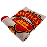Manchester United Official PL Fleece Blanket (One Size) (Multicolored)