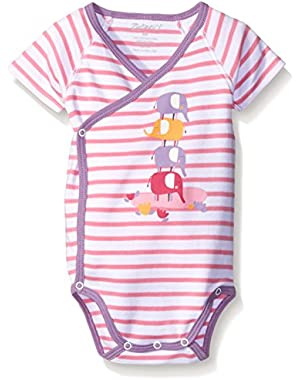 Girls' Elephants Screen S/S Wrap Body!