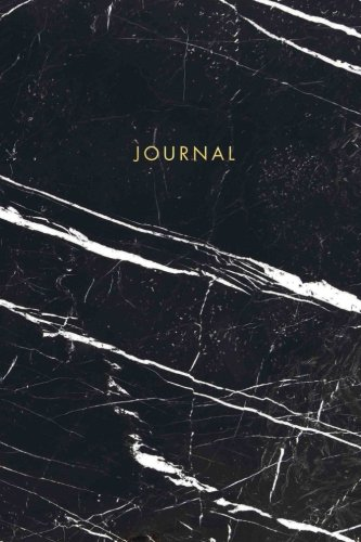 Journal: Elegant Black and White Marble with Gold Lettering - Marble & Gold Journal | 120 College-ruled Pages | 6 x 9 Size (Marble + Gold Collection - Journal, Notebook, Diary, Composition Book)
