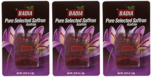 (Badia Saffron Spanish 0.4 gm Pack of 3)