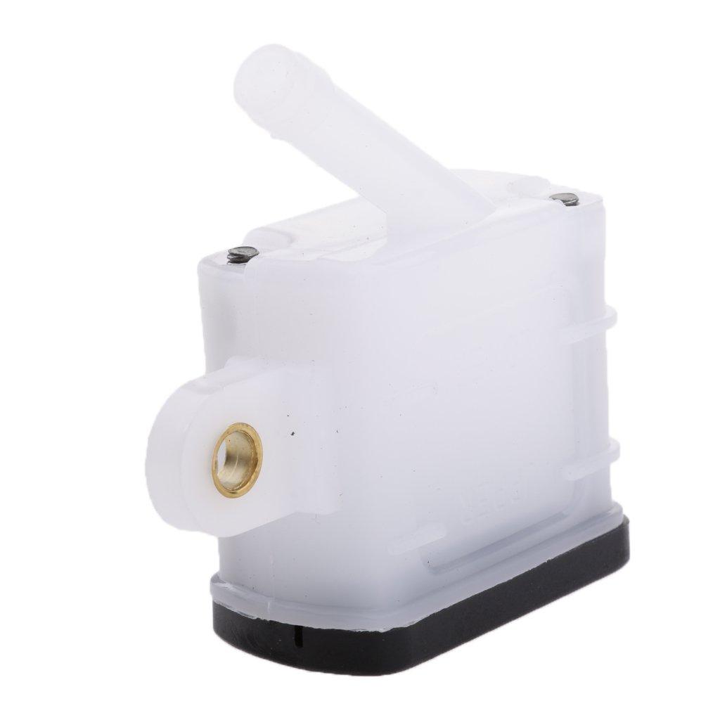 Blanco 48x40mm MagiDeal Tanque de Freno Fl/úido Trasero Cilindro Accesorio para Moto Veh/ículos