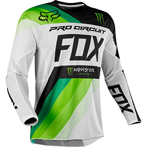 Fox Racing 360 Draftr Monster Pro Circuit Men's MX Motorcycle Jerseys - White/Green / X-Large (Circuit Racing Pro)