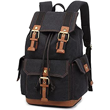 Amazon.com : Vintage Backpacks Canvas Rucksack Large Capacity for ...
