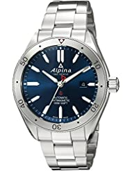 Alpina Mens Alpiner 4 Swiss Automatic Stainless Steel Casual Watch, Color:Silver-Toned (Model: AL-525NS5AQ6B)