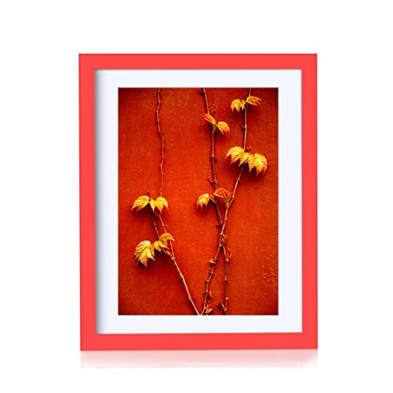 BOJIN 11x14 Picture Frames Made of Solid Wood and Diploma Photo Frame for Wall Hanging, Certificate Frame, Document Frame, Display Pictures A4 with Mat - Red -  - picture-frames, bedroom-decor, bedroom - 51pa8jaHBpL. SS570  -