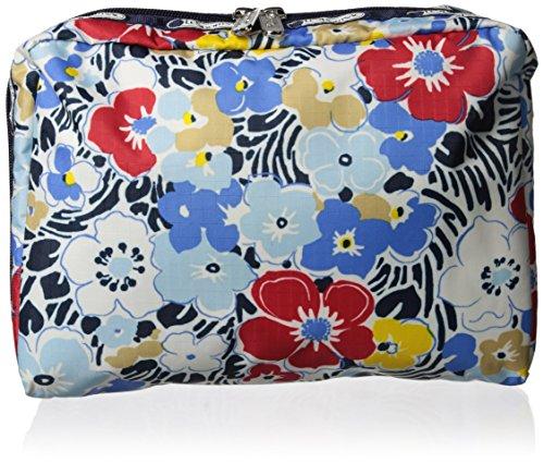 Large Rectangular Case (LeSportsac Extra Large Rectangular Cosmetic Case, Ocean Blooms Navy)