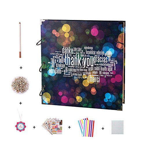 FaCraft 12x12 Scrapbook Album and Accessories (Thank You) ()