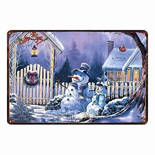 雪だるま 金属スズヴィンテージ安全標識警告サインディスプレイボードスズサインポスター看板建設現場通りの学校のバーに適した