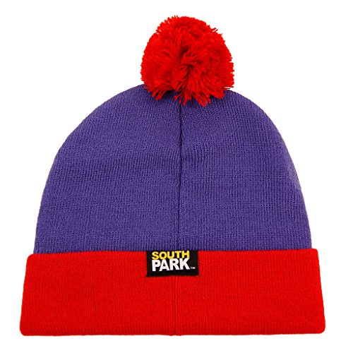South Park Stan Marsh Cosplay Knit Beanie Hat Purple, -