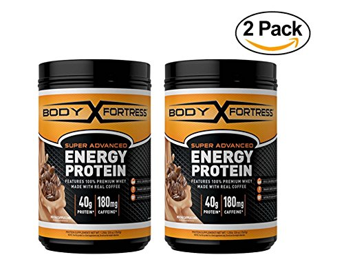 Body Fortress Energy Protein - Mocha Cappuccino, 1.25 Pound, 2 Pack