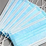 Disposable 50 PCS Filter 3-ply Face Mask Disposable Guard tool Surgical masque anti pollution Personal Protection Dust-Proof Anti Spittle Eye Mask