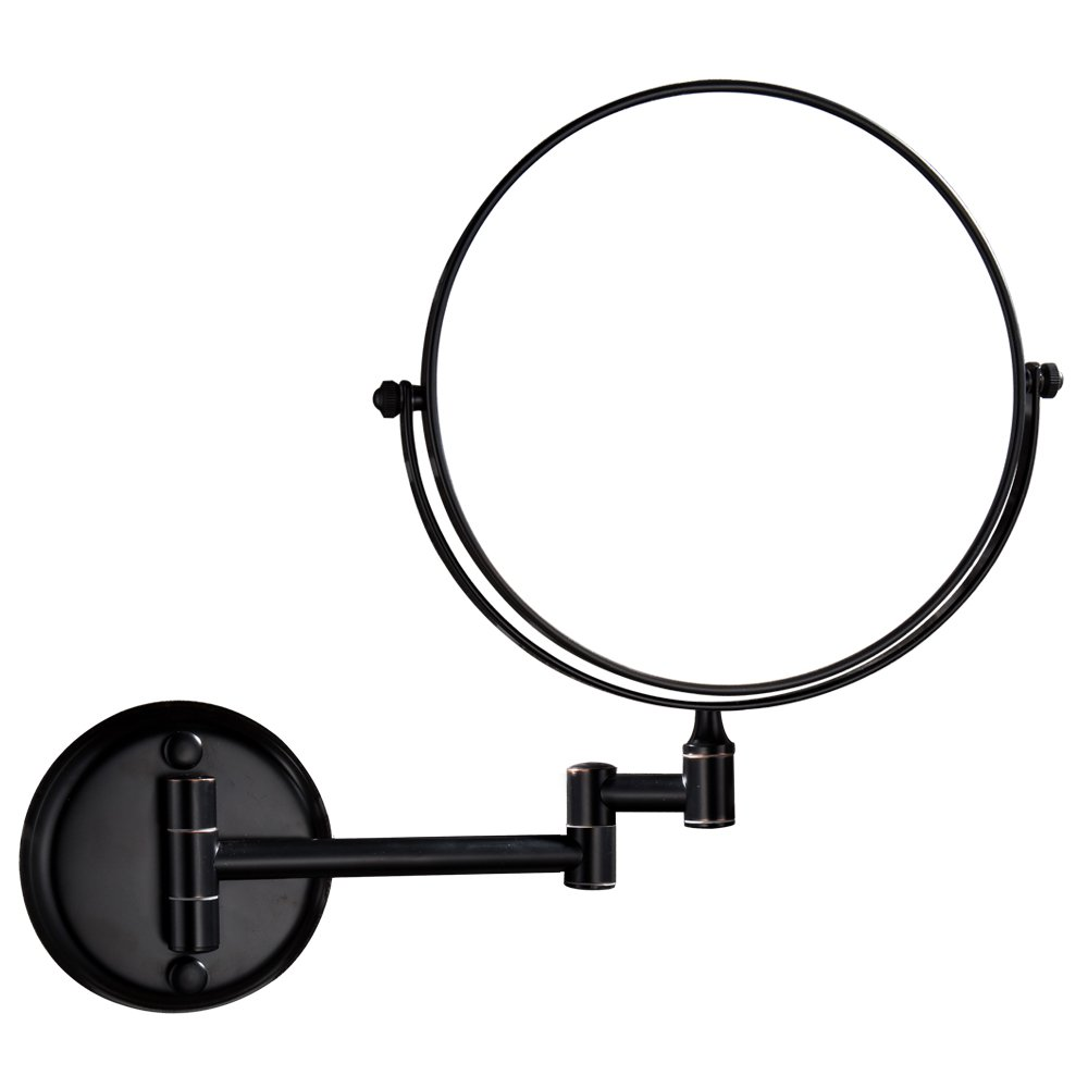 GURUN Dual Sided Wall Mount Makeup Mirror Oil Bronze Finish with 10X Magnification,M1306O(8in,10x)