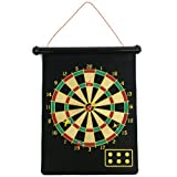 Trademark Games 15-7637 Magnetic Roll-Up Dart Board and Bullseye Game with Darts