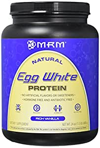 MRM all Natural Egg White Protein, Rich Vanilla 24 Ounce