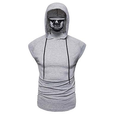 Sudadera con Capucha para Hombre Camiseta sin Mangas Super ...