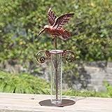 A Ting Hummingbird 7 inch Metal and Glass Wireless Garden Rain Gauge
