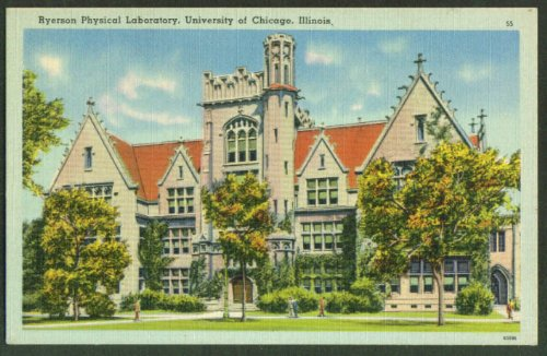 Ryseron Physical Lab University Chicago IL postcard 1940s