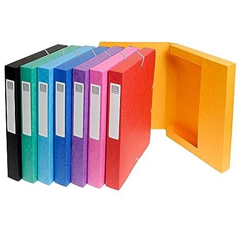 EXACOMPTA-Lote de 2 cajas de clasificación, diámetro 25 mm, goma elástica, cartulina brillante, 7/10e, NATURE FUTURE, color aleatorio: Amazon.es: Oficina y ...