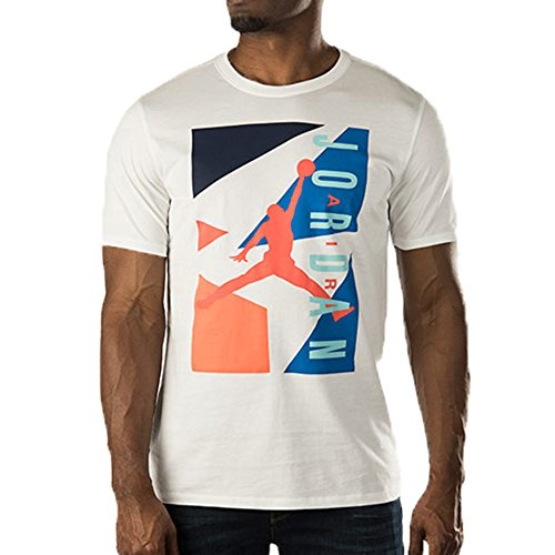 Jordan 92 Retro Men's T-Shirt White/Blue/Orange 659155-104 (Size L)