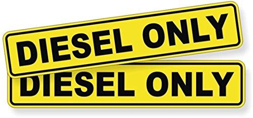 2-Pcs Great Popular Diesel Only Car Stickers Sign Vinyl Stick Oil Helmet Motor Emblem Size 1-1/4