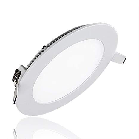 Progreen 15w Flat Led Panel Light Lamp Dimmable Round Ultrathin Led Recessed Downlight 1200lm Warm White 3000k Cut Hole 7 1 Inch Panel Ceiling