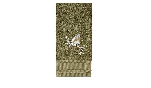 "Saturday Knight Ltd Faithful Birds High Quality Fit Hand Towel 16x26/"" Olive"