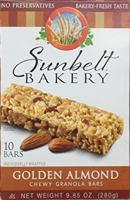Sunbelt Bakery's GOLDEN ALMOND Chewy Granola Bars 10 Count (8 Boxes)