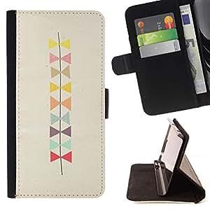 Patrón Bowtie Beige Arte- Modelo colorido cuero de la carpeta del tirón del caso cubierta piel Holster Funda protecció Para Apple (5.5 inches!!!) iPhone 6+ Plus / 6S+ Plus