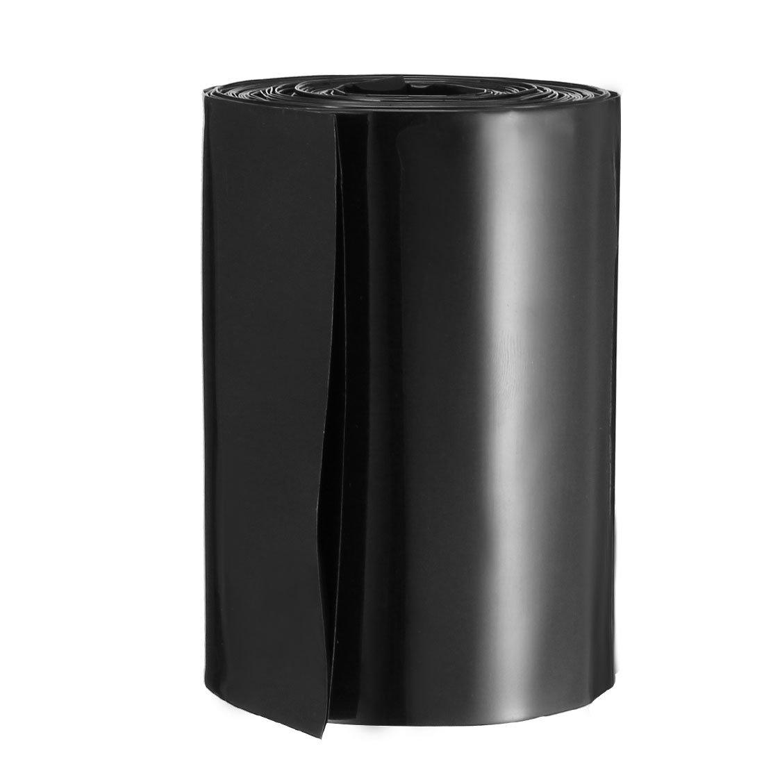 sourcingmap/® 6.6ft 50mm Flat diam/ètre 32 mm tube thermor/étractable PVC bleu 2 x Batterie 18650