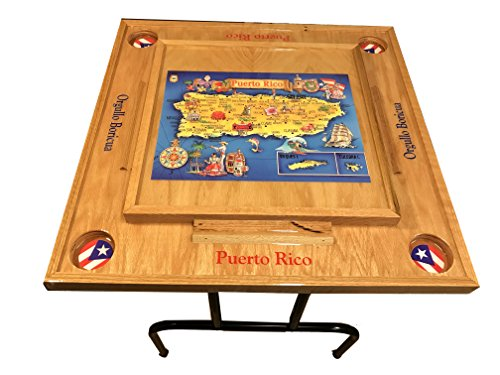 Puerto Rico Domino Table with the Map by latinos r us