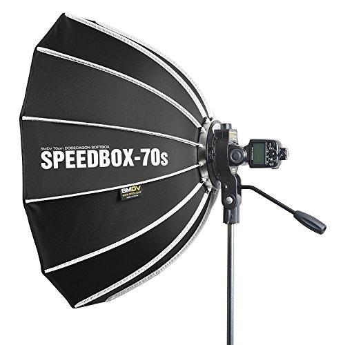 SMDV SPEEDBOX-70s - Professional 27-Inch (70cm) Rigid Quick Folding Hexagonal Softbox With Speed Bracket for Altura, Neewer, YONGNUO, Metz, Nissin, Canon, Nikon Speedlight Flash Units by Calumet