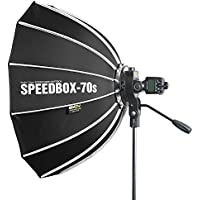 SMDV SPEEDBOX-70s - Professional 27-Inch (70cm) Rigid Quick Folding Hexagonal Softbox With Speed Bracket for Altura, Neewer, YONGNUO, Metz, Nissin, Canon, Nikon Speedlight Flash Units