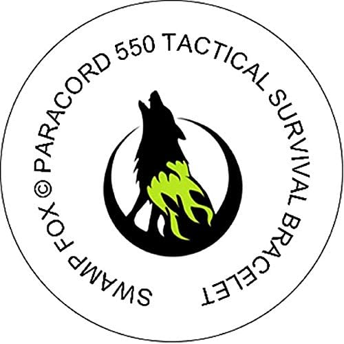 Swamp Fox シンシナティ・ベンガルズ フットボール パラコード ブレスレット 調整可能 インサートピン付き 7~9インチ